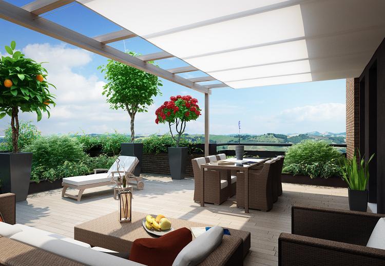 Sognate una casa con terrazzo da vivere tutto l anno anche for Foto di case arredate